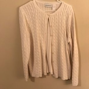 ***3 FOR $10 PROMO*** White cable knit sweater